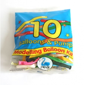 Swan Modelling Balloon Kit (10 Qty)