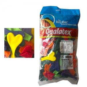 "Qualatex - 6"" (100) Heart Carnival"