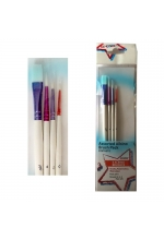 Create Assorted Colourful Plastic Handle Brush Set (5 Pack)