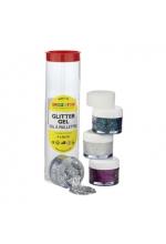 Snazaroo Glitter Gel Tube A  4 x 8ml pots of glitter gels