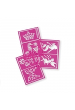 Snazaroo Face Painting Stencils - Pink